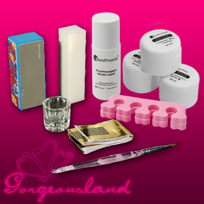 Details about French Acrylic Nail Art UV Gel Full Set Manicure Kit UK